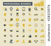 professional business icons  | Shutterstock .eps vector #428325076