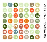 set of 49 universal icons.... | Shutterstock . vector #428325142