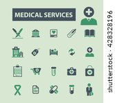 medical services icons  | Shutterstock .eps vector #428328196