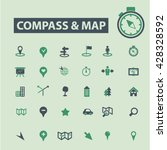 compass map icons  | Shutterstock .eps vector #428328592