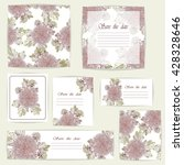 set beautiful cards and... | Shutterstock .eps vector #428328646