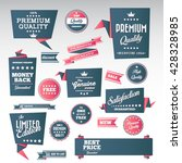 vintage labels set   origami... | Shutterstock .eps vector #428328985
