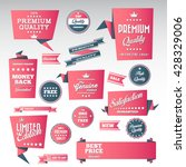 vintage labels set   origami... | Shutterstock .eps vector #428329006