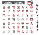 online training icons  | Shutterstock .eps vector #428330392
