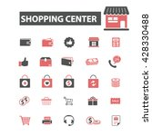 shopping center icons  | Shutterstock .eps vector #428330488