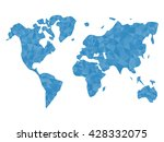 blue polygonal world map... | Shutterstock .eps vector #428332075