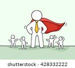 sketch of working little people ... | Shutterstock .eps vector #428332222