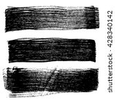 set of grunge brush strokes ... | Shutterstock .eps vector #428340142