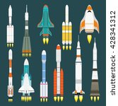 rocket set vector and... | Shutterstock .eps vector #428341312