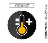 thermometer flat icon. weather...