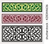 vector vintage border frame... | Shutterstock .eps vector #428344636