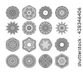 decorative mandala set. vector... | Shutterstock .eps vector #428346406