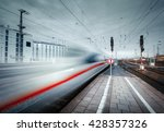 High Speed Passenger Train On...