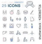 set vector line icons in flat... | Shutterstock .eps vector #428360716