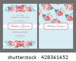 vintage wedding invitation | Shutterstock .eps vector #428361652