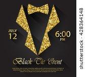 black tie event invitation ...   Shutterstock .eps vector #428364148