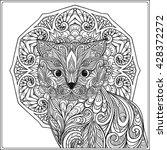 Decorative Cat With Mandala....