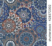 seamless ethnic pattern with... | Shutterstock .eps vector #428372302
