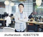 confident young asian... | Shutterstock . vector #428377378