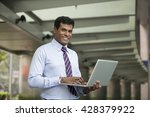 indian business man using his...   Shutterstock . vector #428379922