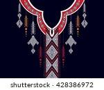 geometric ethnic oriental... | Shutterstock .eps vector #428386972