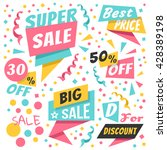 colorful holiday sale paper... | Shutterstock .eps vector #428389198