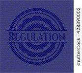 regulation emblem with jean...   Shutterstock .eps vector #428390002
