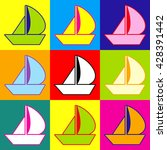 sail boat sign | Shutterstock .eps vector #428391442