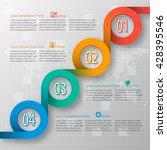 vector abstract 3d paper... | Shutterstock .eps vector #428395546