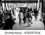 crowded city people background  ... | Shutterstock . vector #428397016