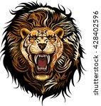 lion face | Shutterstock .eps vector #428402596