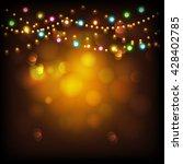 creative illuminated hanging...   Shutterstock .eps vector #428402785