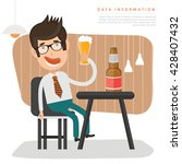 businessman employee concept... | Shutterstock .eps vector #428407432