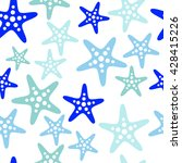 seamless sea pattern with... | Shutterstock .eps vector #428415226
