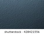 Blue Leather Texture Or Leathe...