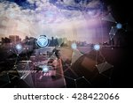 smart logistics and wireless... | Shutterstock . vector #428422066