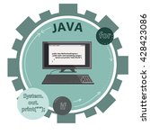 vector icon of java programming ... | Shutterstock .eps vector #428423086