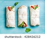 healthy lunch snack. tortilla... | Shutterstock . vector #428426212