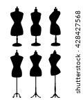 vintage mannequins. vector... | Shutterstock .eps vector #428427568