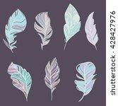 set of ghand drawn boho... | Shutterstock .eps vector #428427976