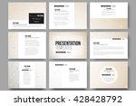 set of 9 vector templates for...   Shutterstock .eps vector #428428792