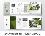 vector set of tri fold... | Shutterstock .eps vector #428428972