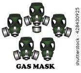 gas mask   vector illustration | Shutterstock .eps vector #428430925