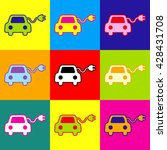 eco electric car sign | Shutterstock .eps vector #428431708