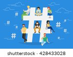 hashtag concept illustration of ... | Shutterstock .eps vector #428433028
