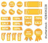 yellow sale banners  labels ...   Shutterstock .eps vector #428434228