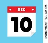 calendar icon flat december 10