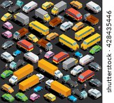 traffic jam on the road ... | Shutterstock .eps vector #428435446