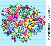 hand drawn abstract psychedelic ... | Shutterstock .eps vector #42843574