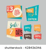 set of geometric vector sale... | Shutterstock .eps vector #428436346